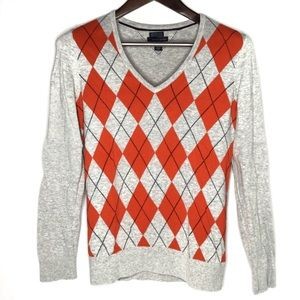 Tommy Hilfiger Argyle Sweater 100% Pima Cotton